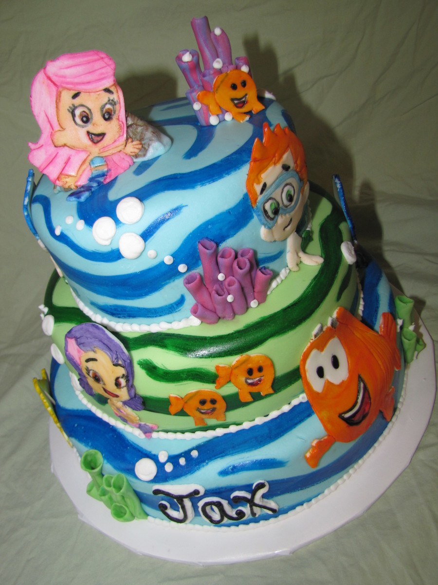 Bubble guppies cake for Bubble guppies fish