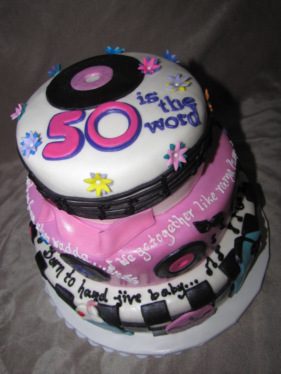 50th Birthday Grease Cake Cakecentral Com