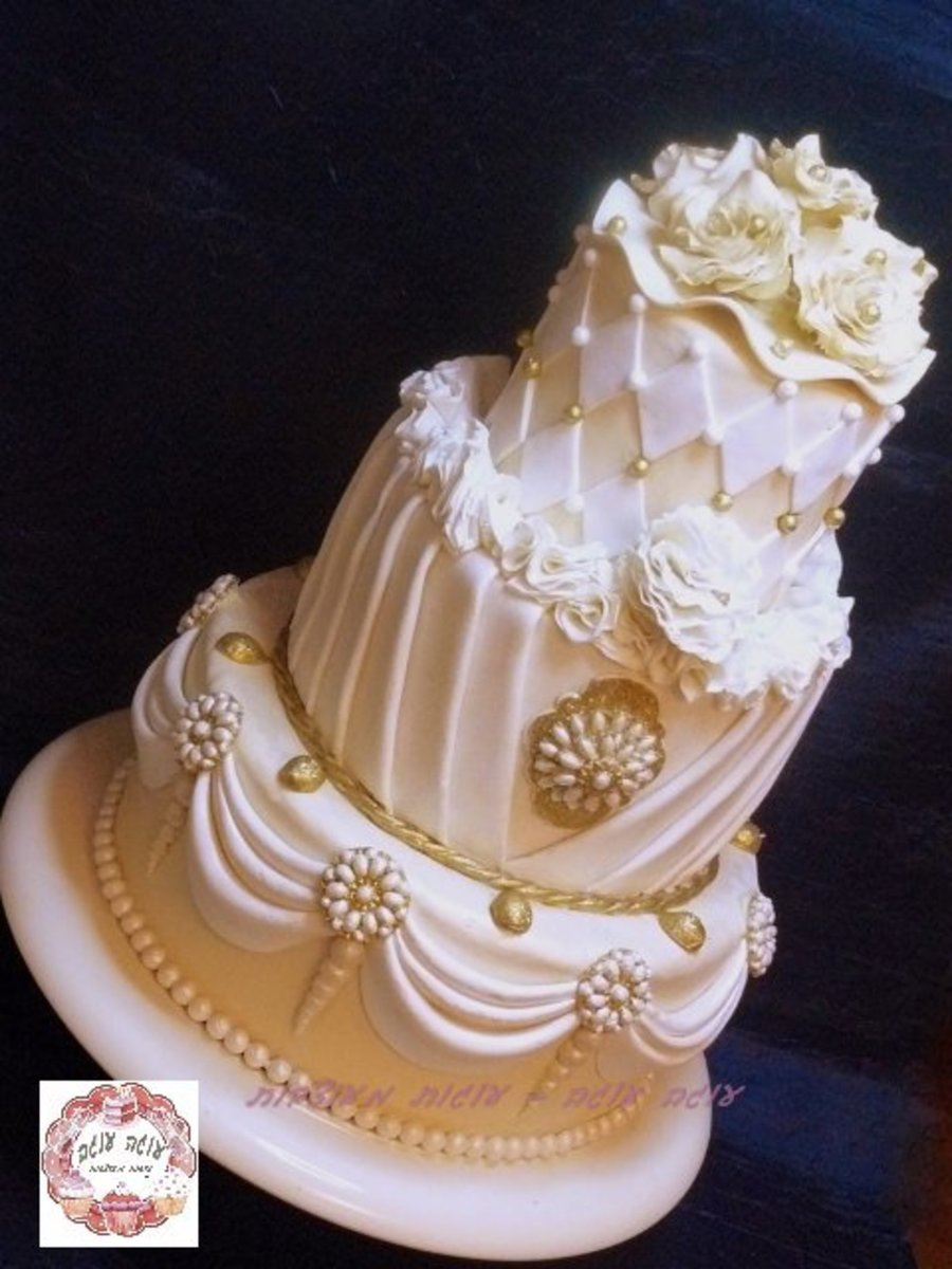 Bling Bling Over The Top 3 Tier Wedding Cake - CakeCentral.com