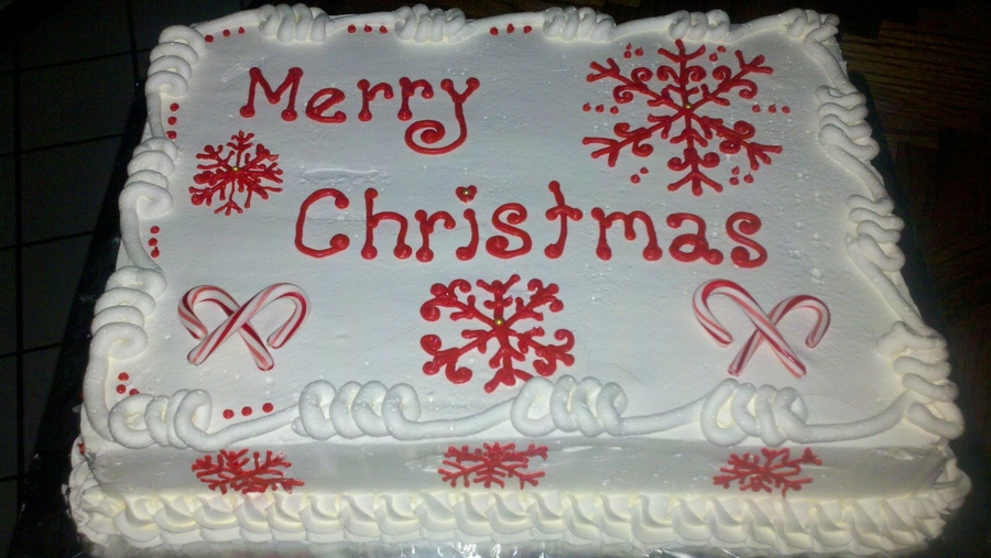 Christmas Sheet on Cake Central