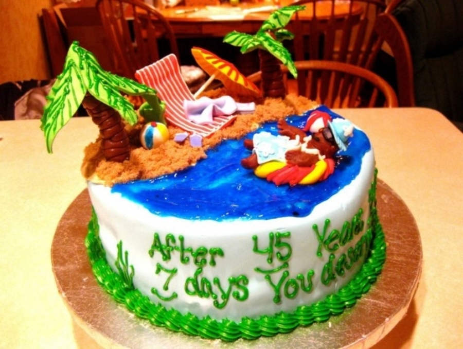 Beach Retirement on Cake Central
