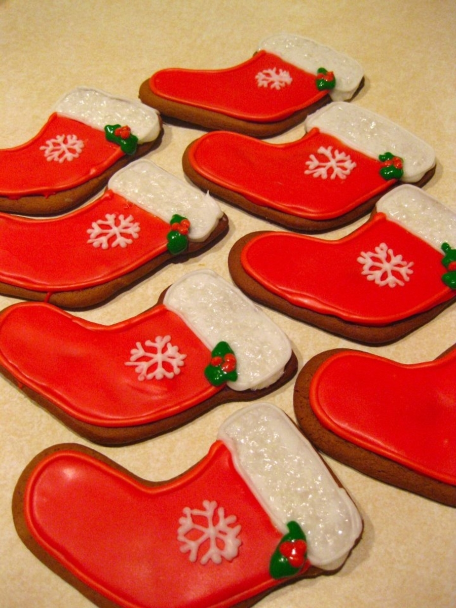 Christmas Stocking Cookies on Cake Central