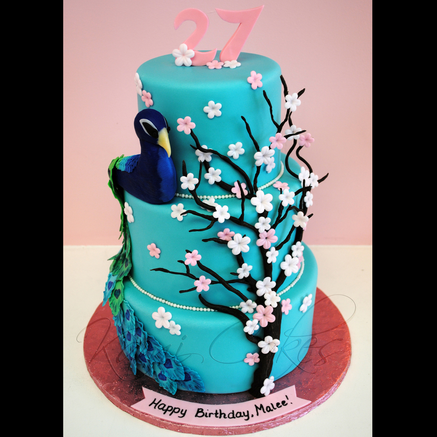 Peacock Paradise on Cake Central