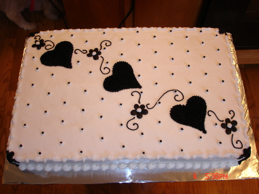 Black And White Sheet Cake Cakecentral Com