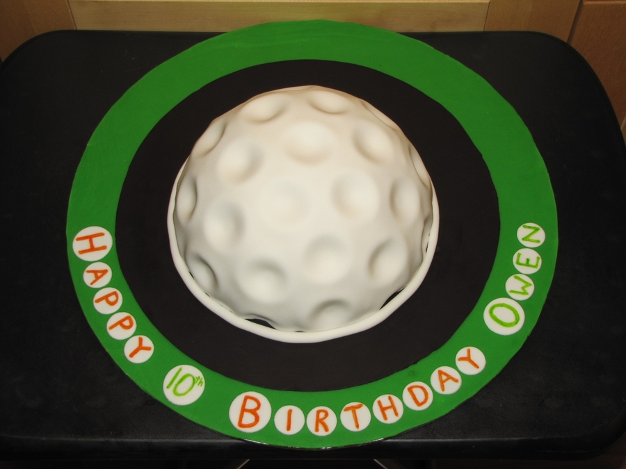 Golf Ball Birthday on Cake Central