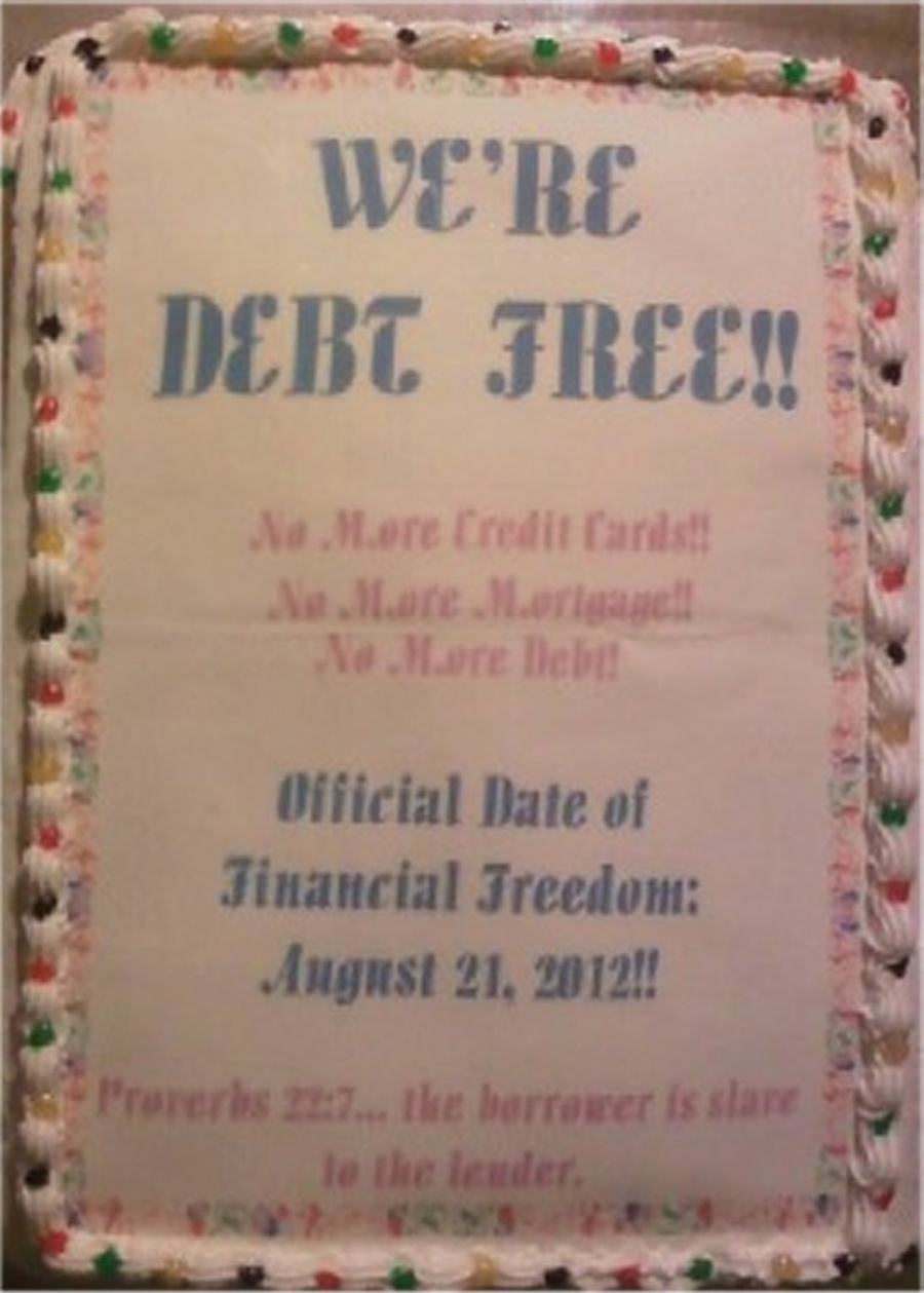 We're Debt Free! Cake on Cake Central