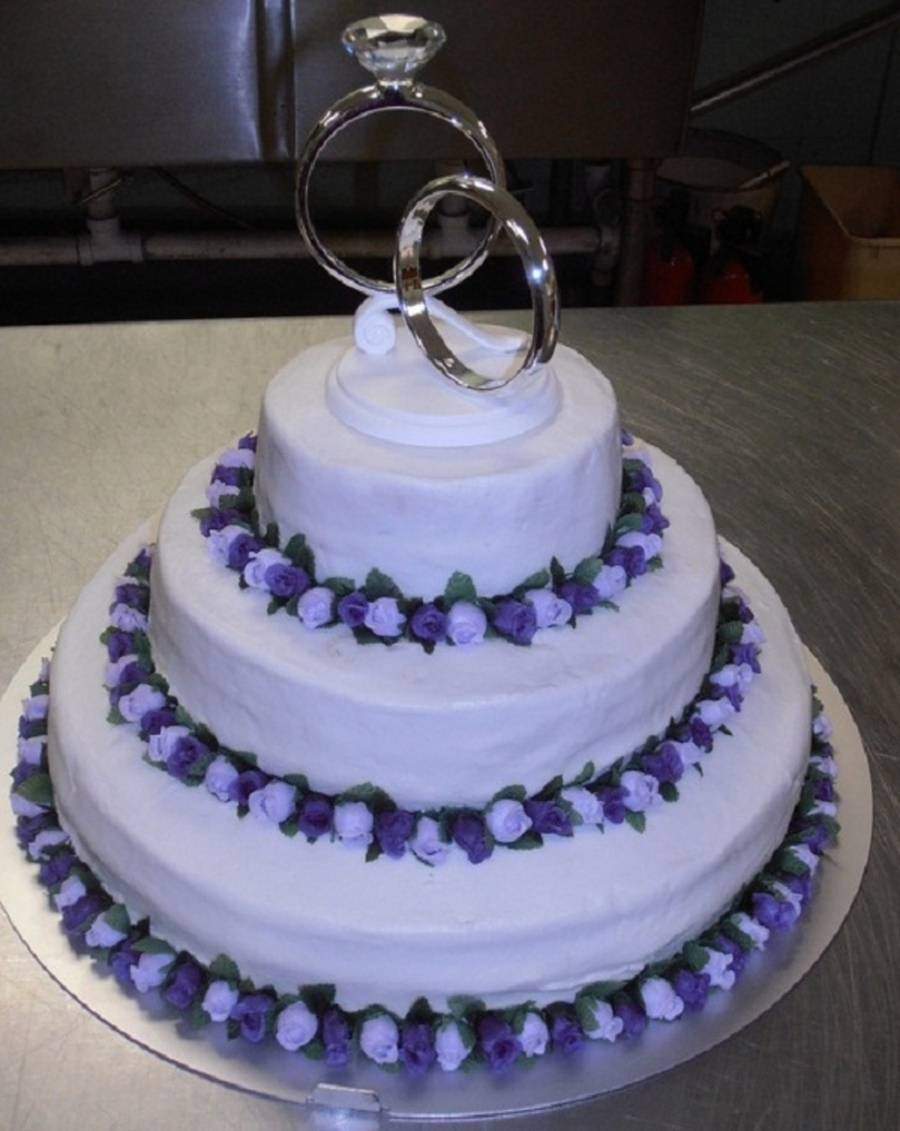 wedding cake designs lavender lavender purple wedding cake cakecentral 22484
