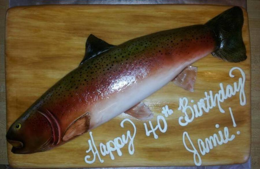 Sensational Rainbow Trout Birthday Cake Cakecentral Com Birthday Cards Printable Opercafe Filternl
