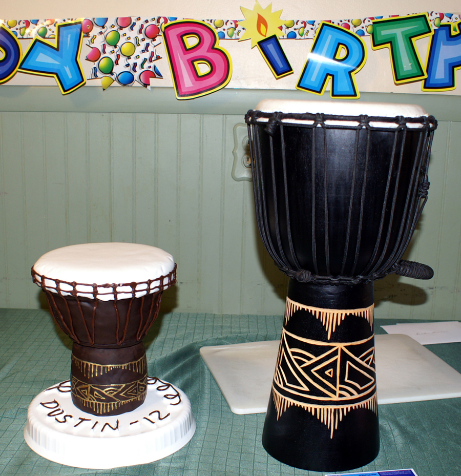 How To Make A Drum Birthday Cake