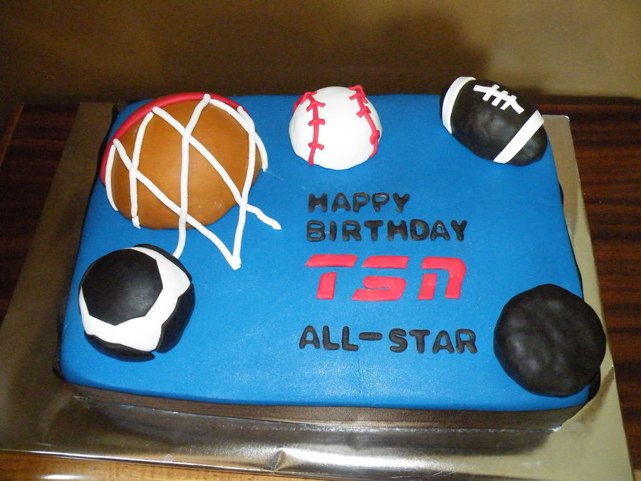 Tsn Sports Star on Cake Central