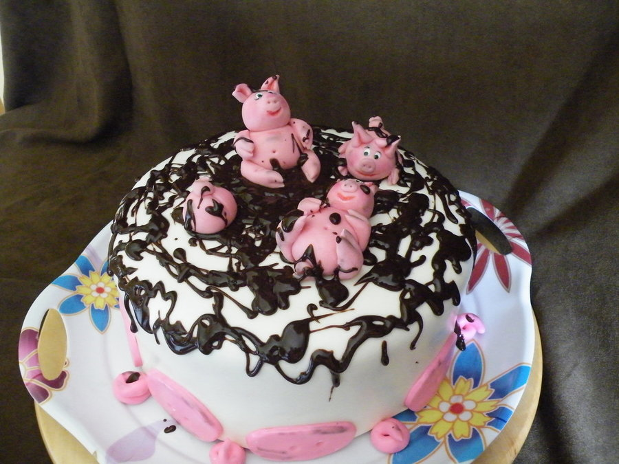 Piggies For Kathy on Cake Central