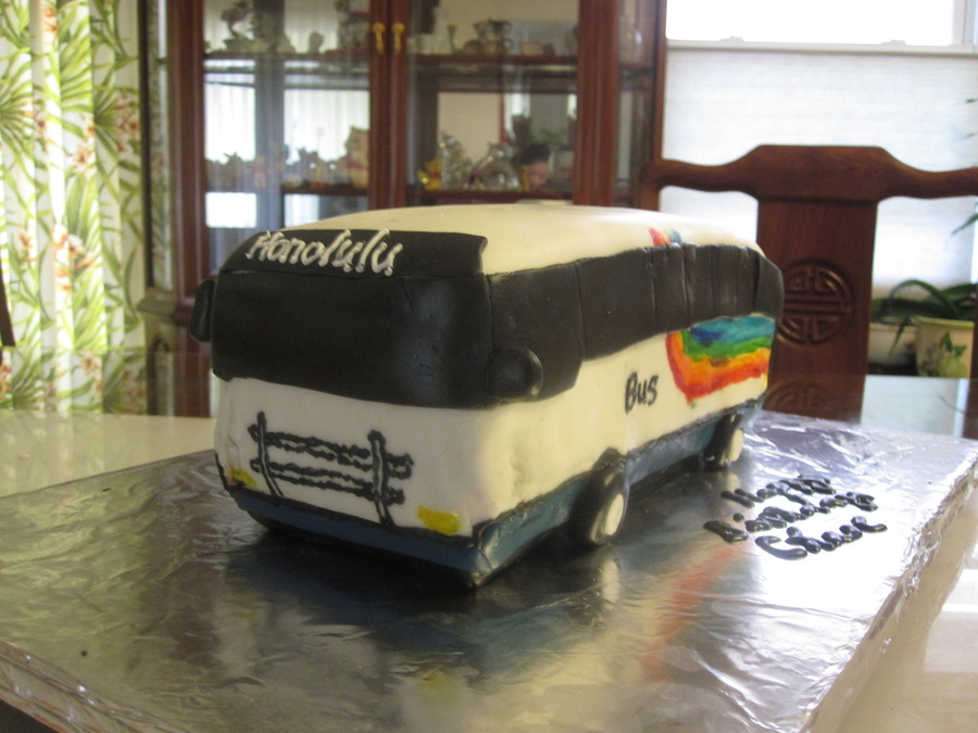 Honolulu City Bus On Cake Central