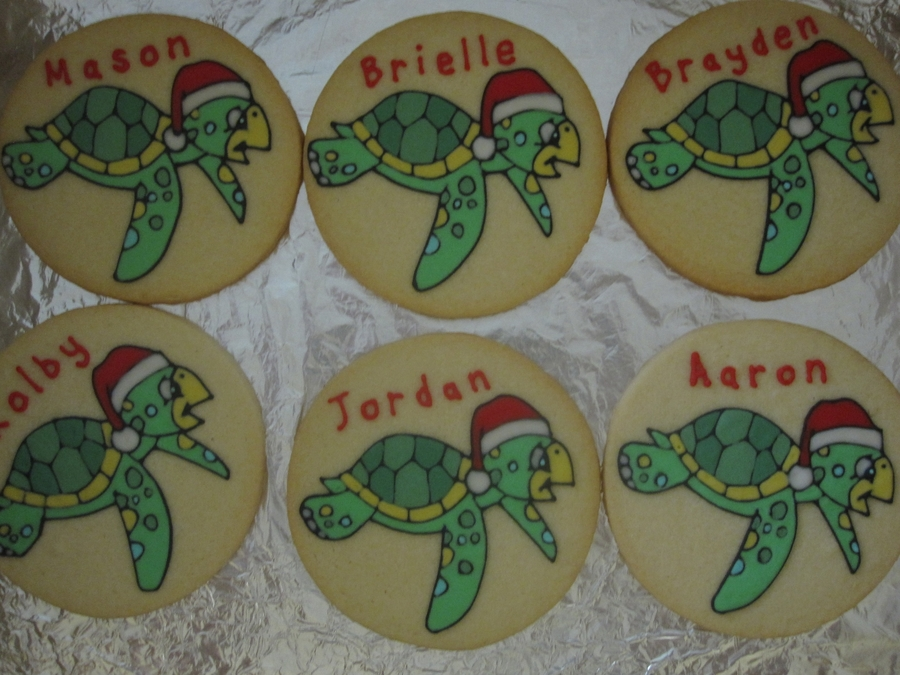 Honu Cookies  on Cake Central