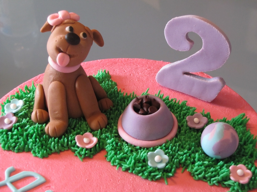 Dog Safe Cake Decorations : Dog-Themed 2Nd Birthday Cake - CakeCentral.com