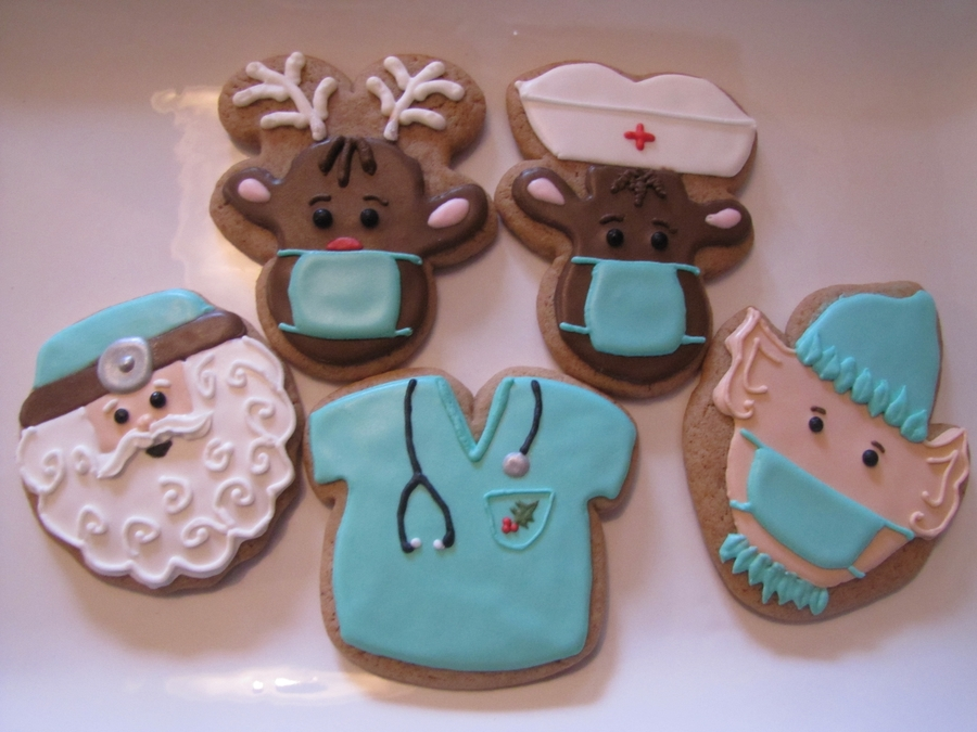 Medical Staff Christmas Cookies on Cake Central