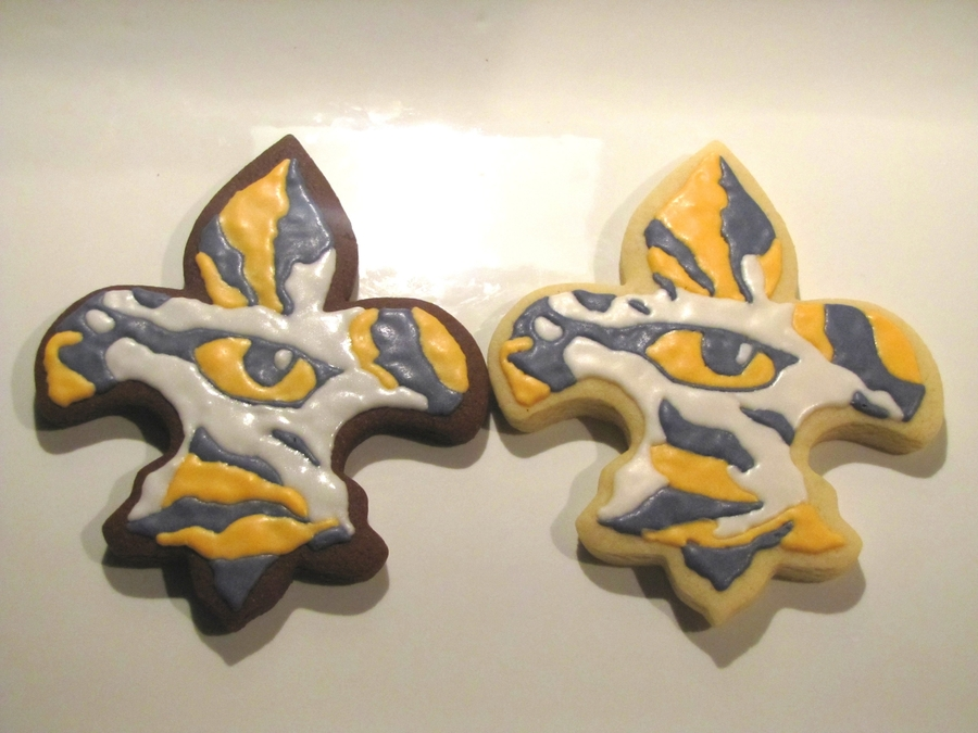 Lsu Fleur De Lis Cookies on Cake Central