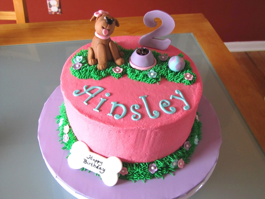 Birthday Cake Images Dogs : Dog-Themed 2Nd Birthday Cake - CakeCentral.com