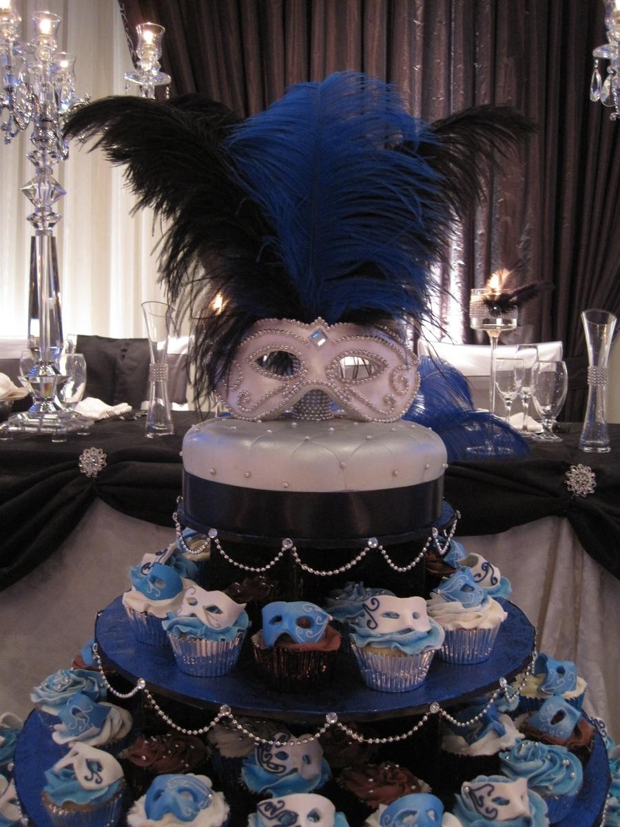 Winter Wonderland Cup Cake Wedding Cake