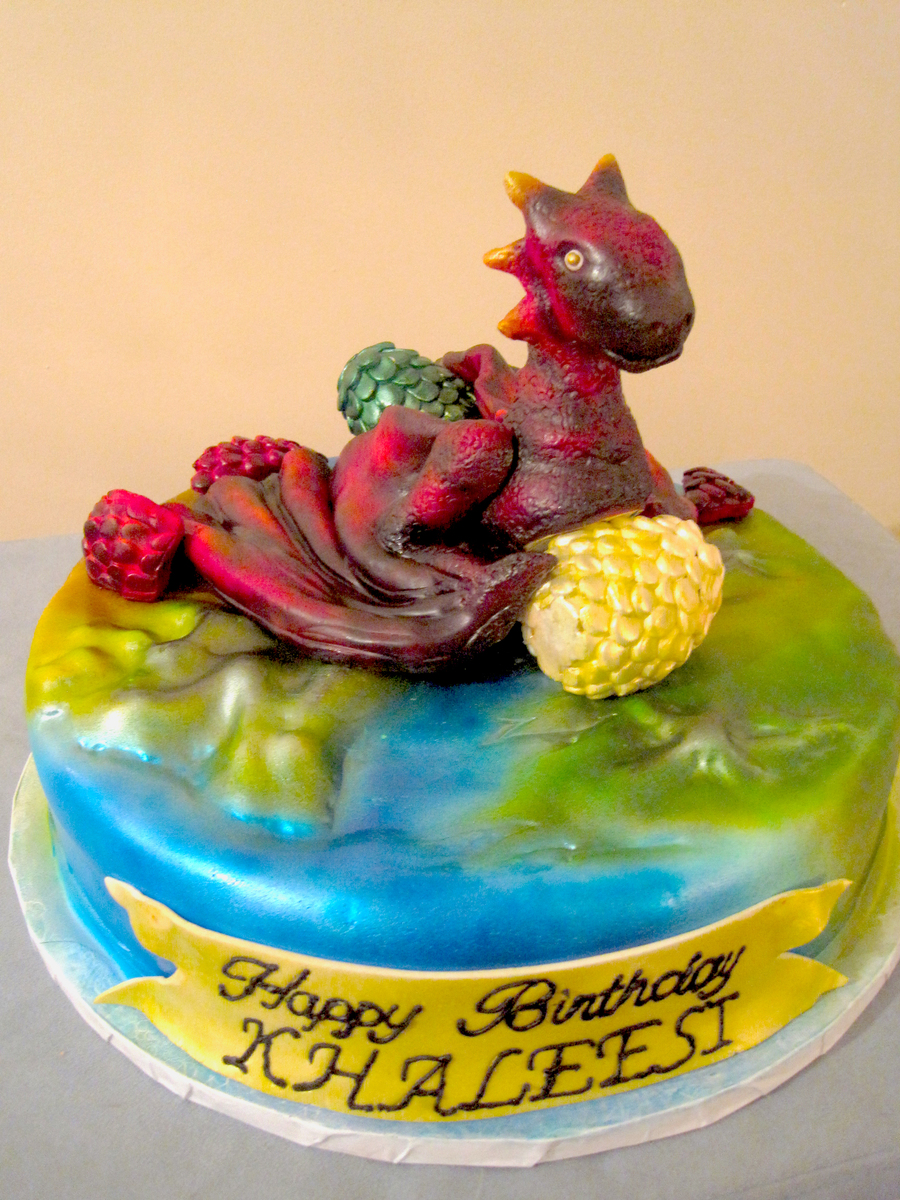Game Of Thrones Dragon Egg Cake