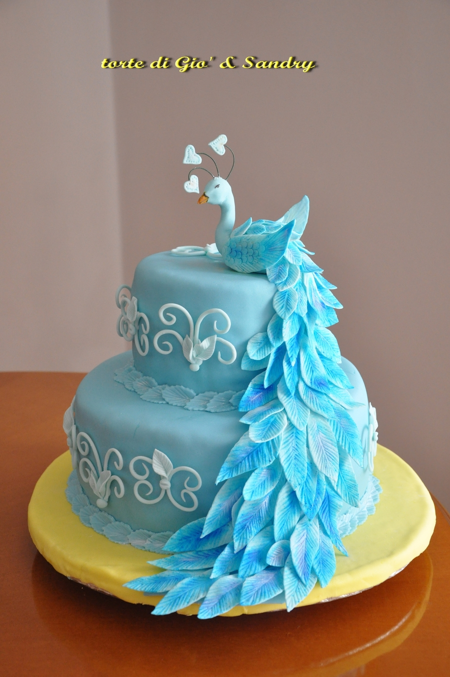 The Peacock Blue on Cake Central