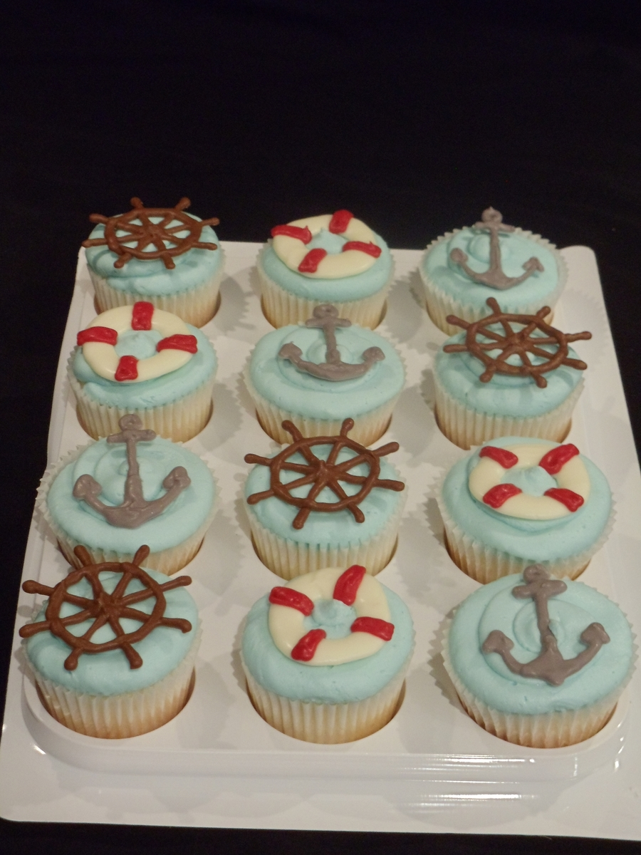 Nautical Cupcakes on Cake Central
