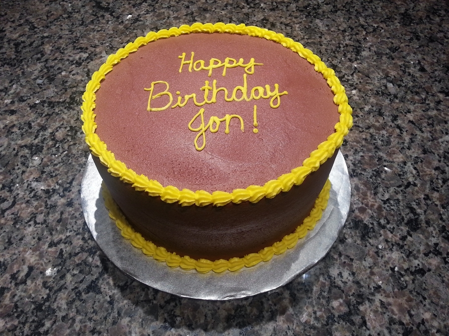 Yellow Cake With Chocolate Buttercream Icing on Cake Central