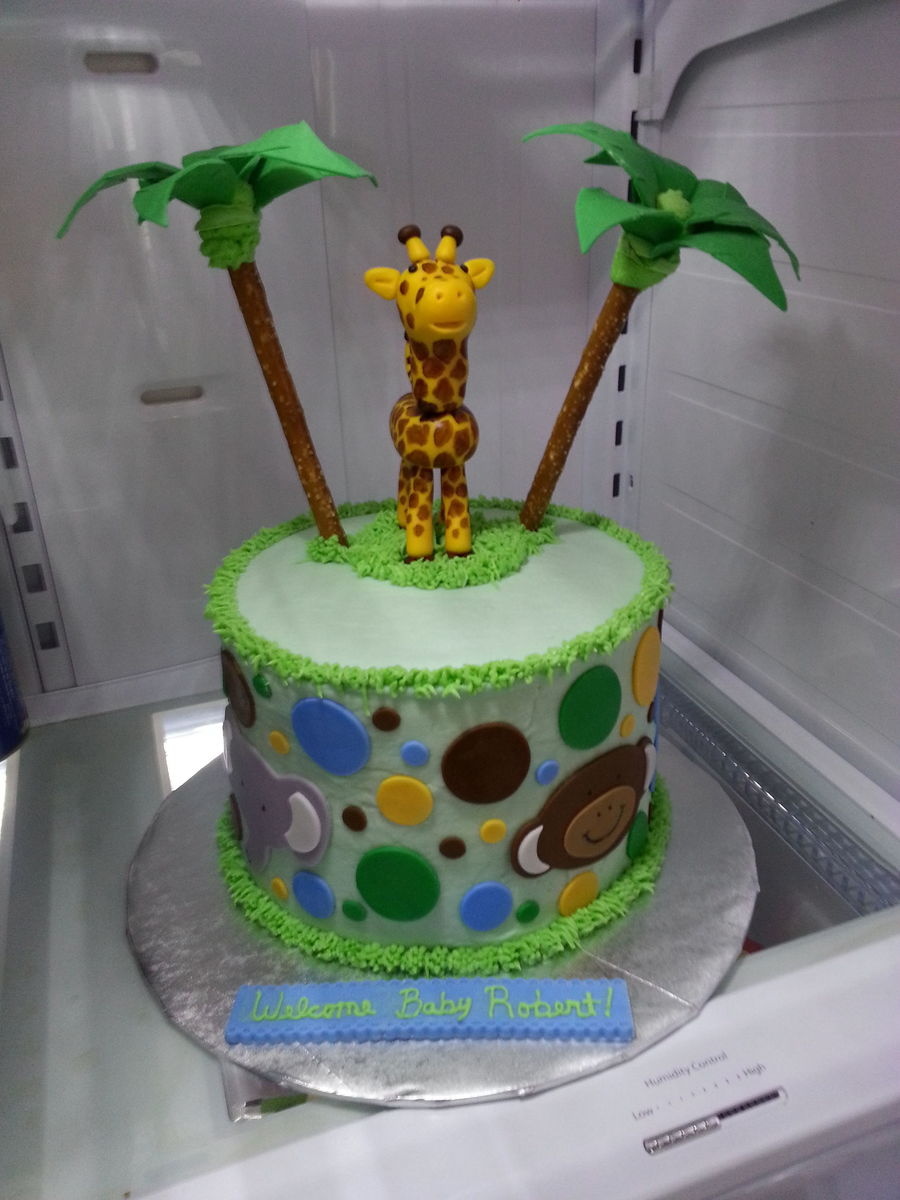 Wilton Baby Shower Cakes Part - 41: Jungle Baby Shower Cake Red Velvet Cake With Cream Cheese Buttercream  Filling And Icing Wilton Modeling