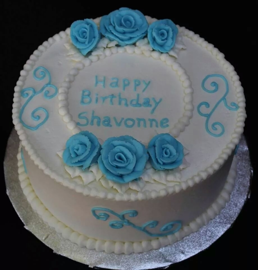 Superb Blue And White Birthday Cake Wedding White Cake With Almond Funny Birthday Cards Online Aeocydamsfinfo