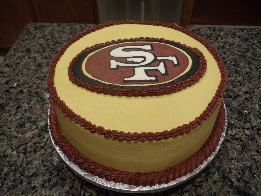San Francisco 49Er's Fan Groom's Cake on Cake Central