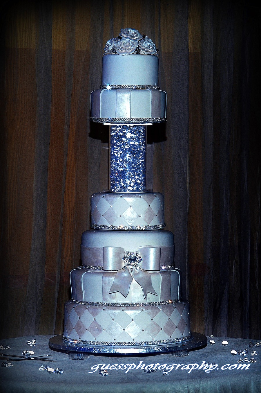 Bling Bling Wedding Cake on Cake Central