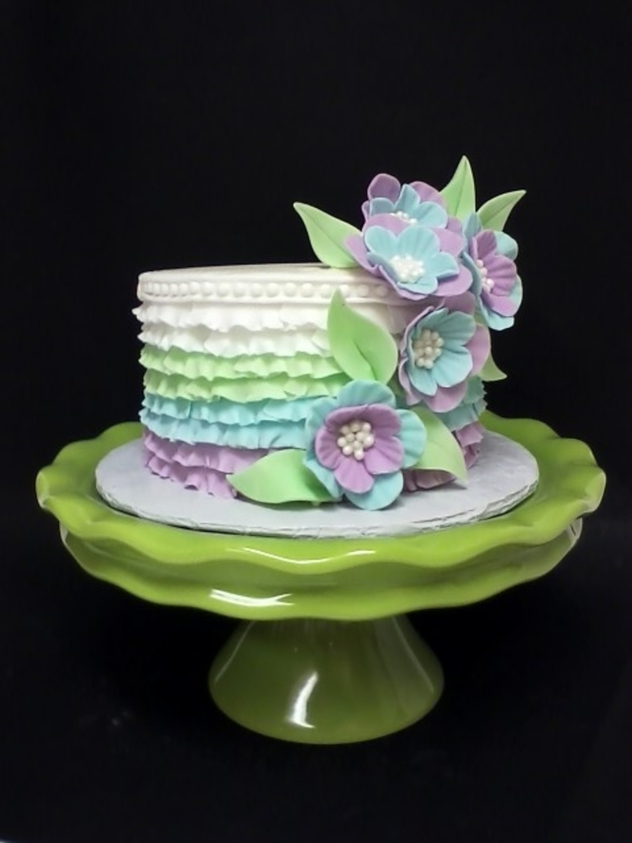 Ruffles & Flowers on Cake Central