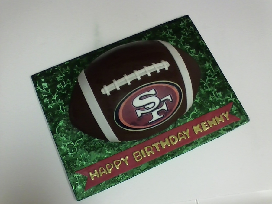 Sf 49'ers Football Cake on Cake Central