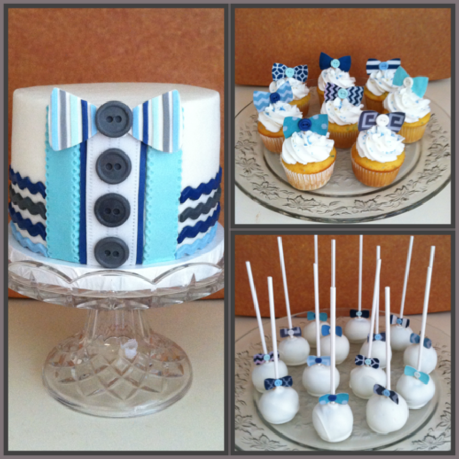 Marvelous Little Man Bow Tie Baby Shower On Cake Central