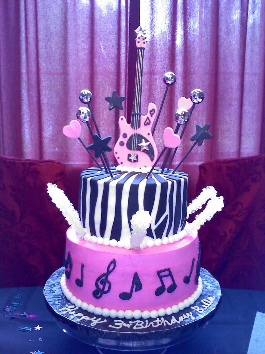 Astonishing Rock Star Birthday Cake Cakecentral Com Funny Birthday Cards Online Kookostrdamsfinfo