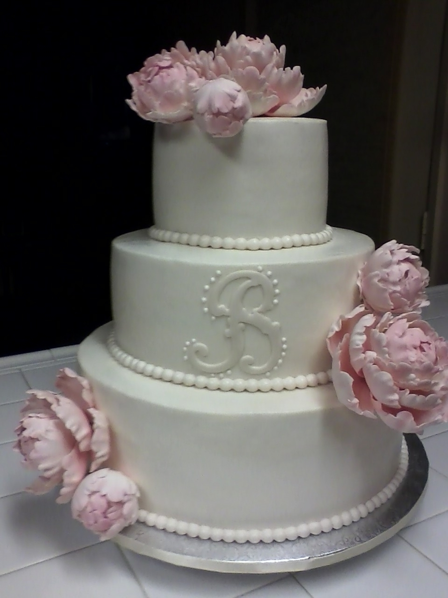 Blush Rose Peony & Ivory Wedding on Cake Central