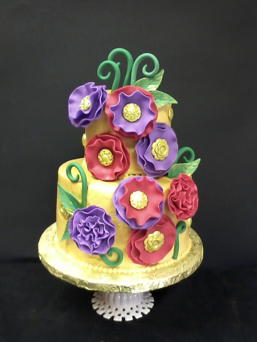 Whimsical Jewel Toned Birthday - CakeCentral.com