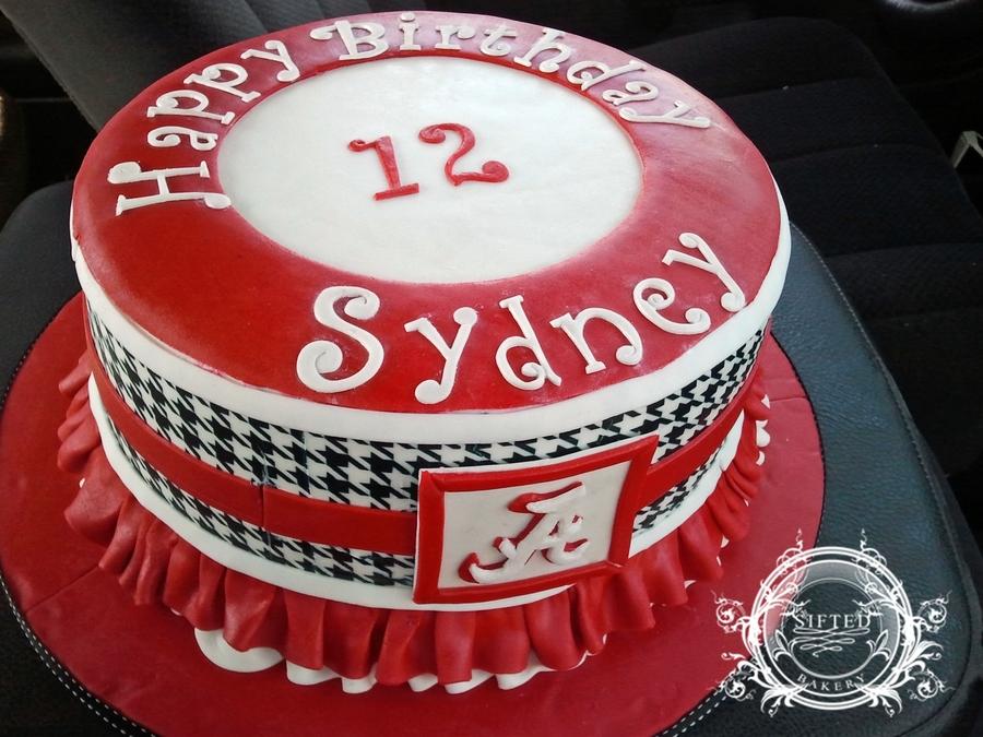Girls Alabama Football Cake CakeCentralcom