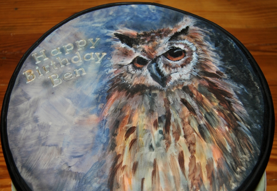 Great Horned Owl on Cake Central