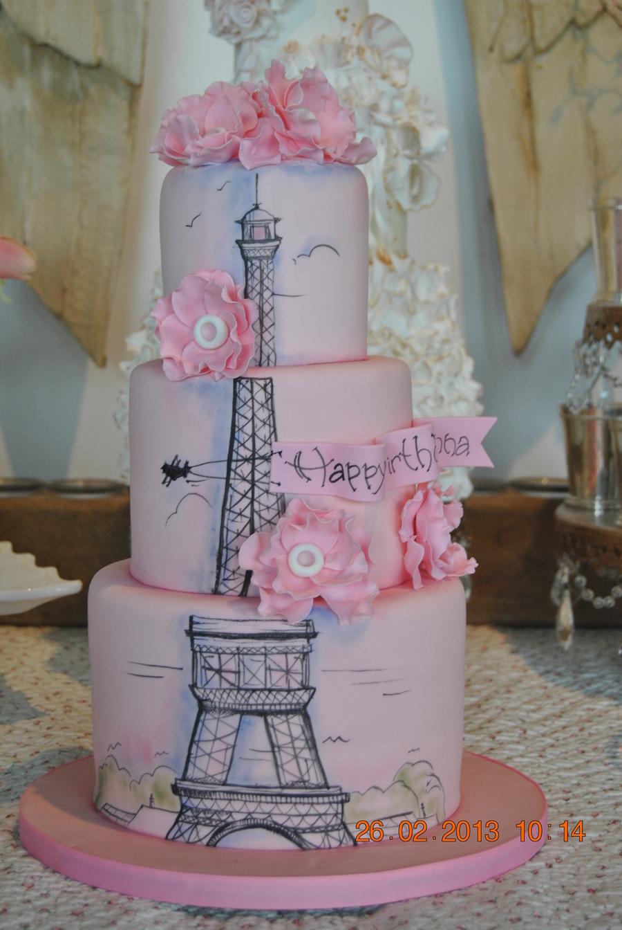 Paris Eiffel Tower Cake Version Iii Cakecentral Com