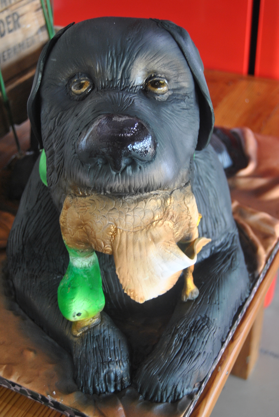 Groom Is A Duck Hunter And This Is A Likeness Of His Dog on Cake Central