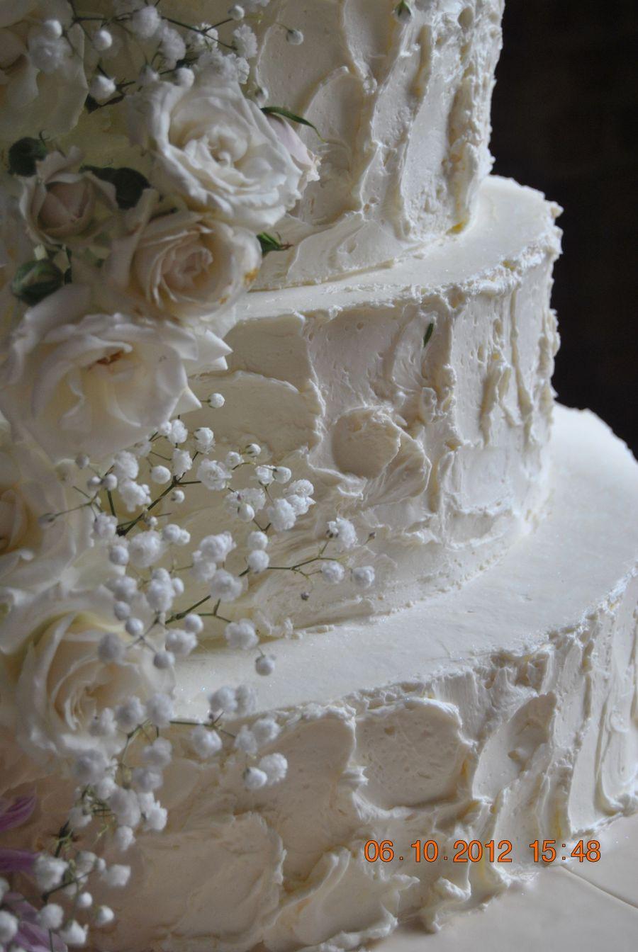 Shabby Chic Wedding Cake - CakeCentral.com