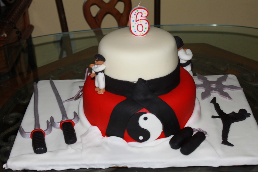 Karate Kid Cake CakeCentralcom