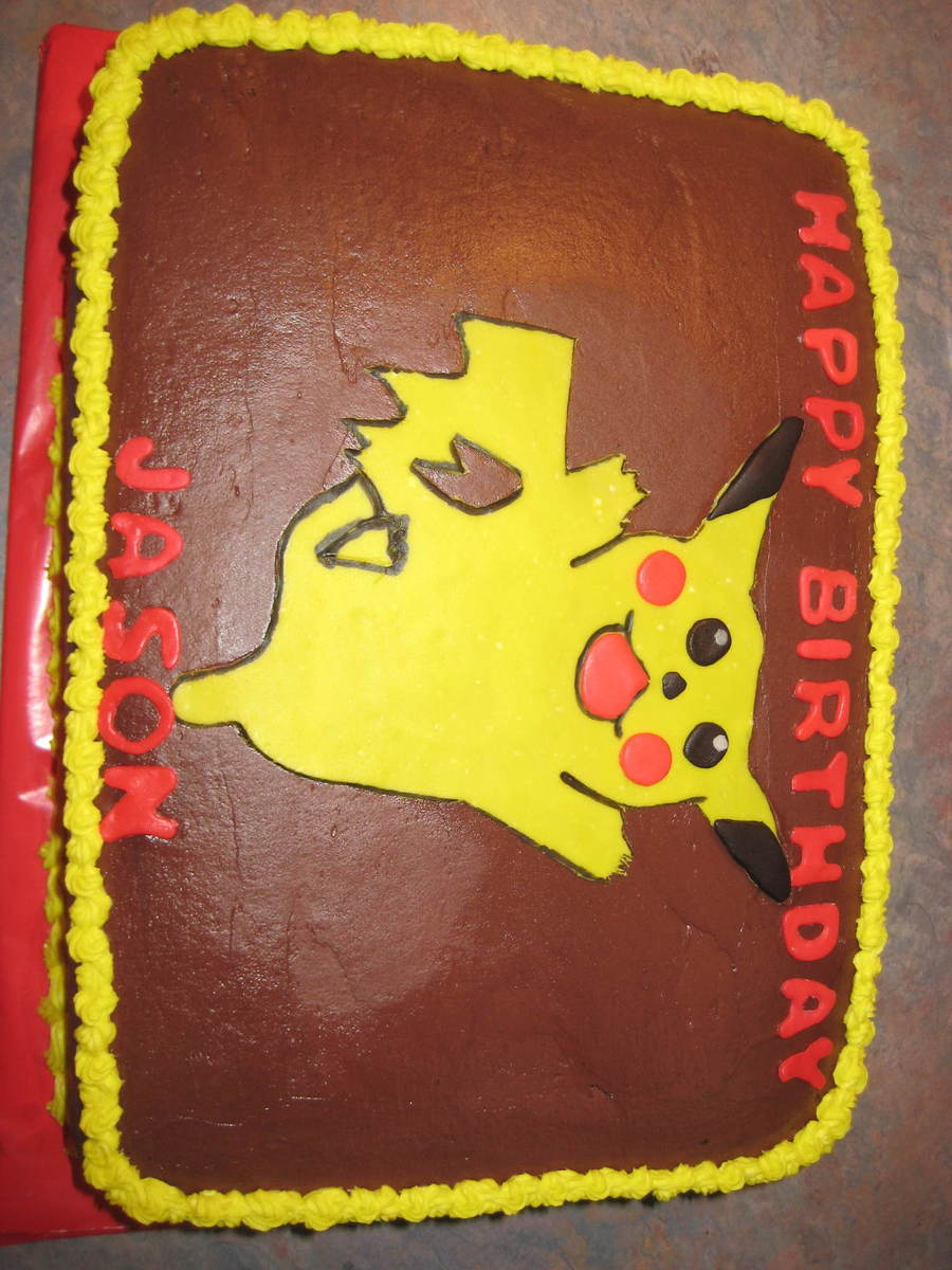 Pokemon Cake on Cake Central