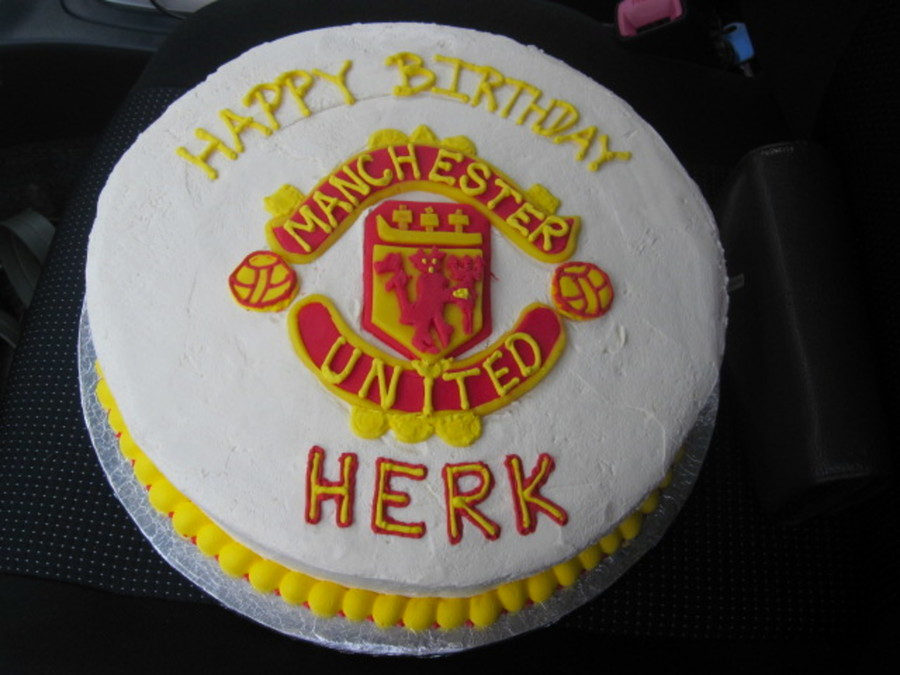 Man. United Birthday Cake on Cake Central