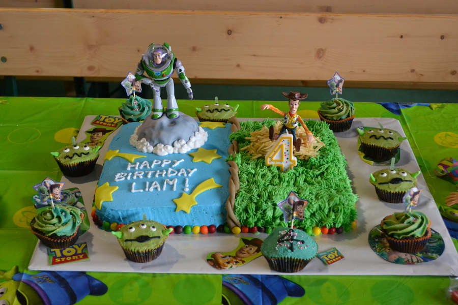 Made This Cake For My Friends Son He Loved His Buzz And Woody Cake on Cake Central