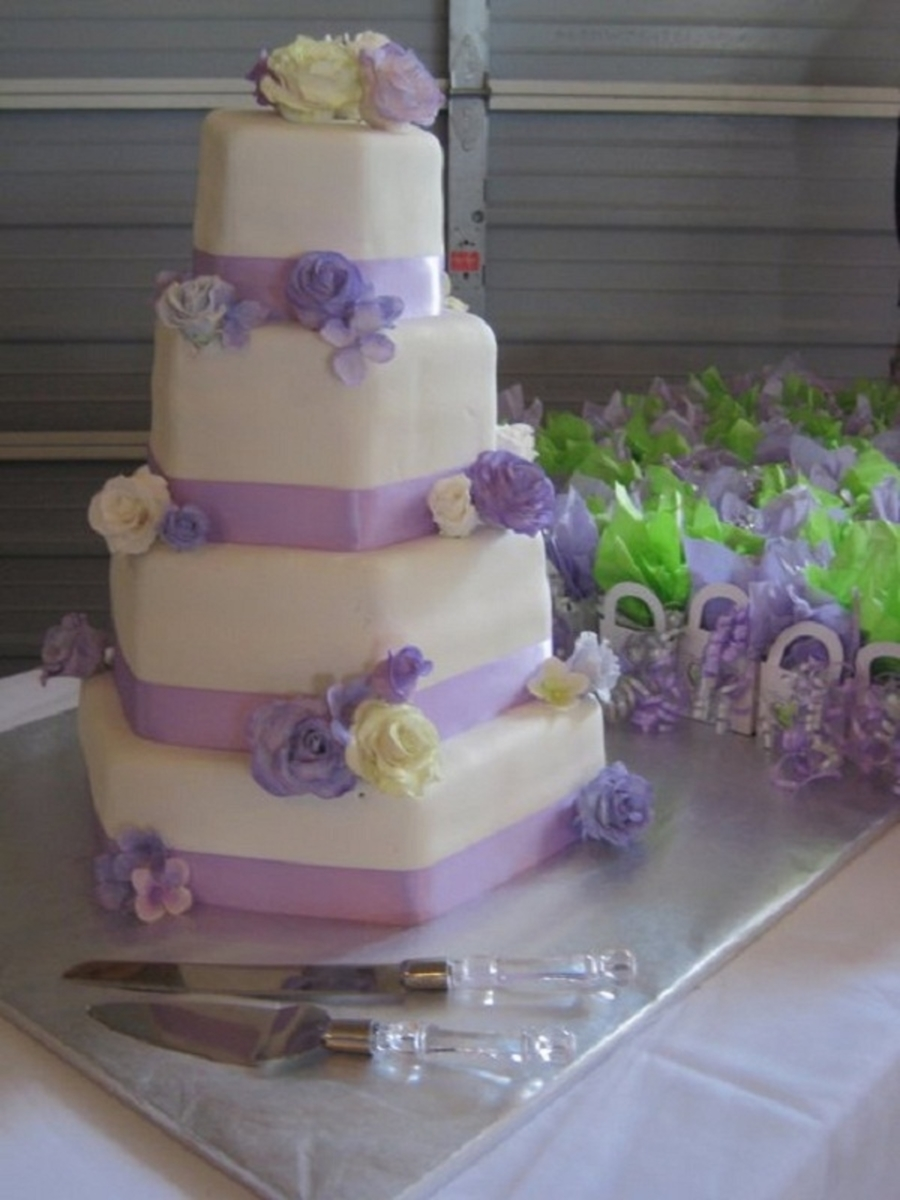 Floral Wedding Cake  on Cake Central