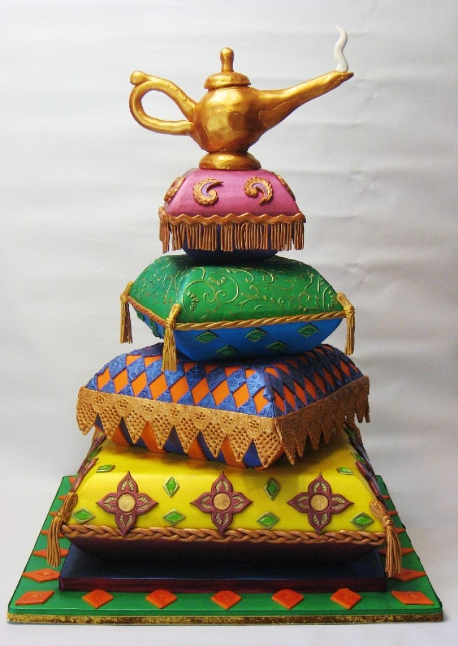 Arabian pillow cake for Arabian cake decoration