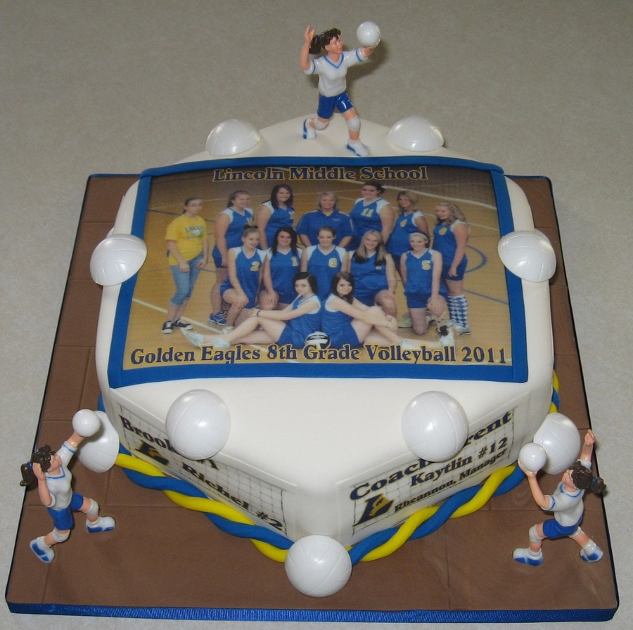 Volleyball Team Photo Cake on Cake Central
