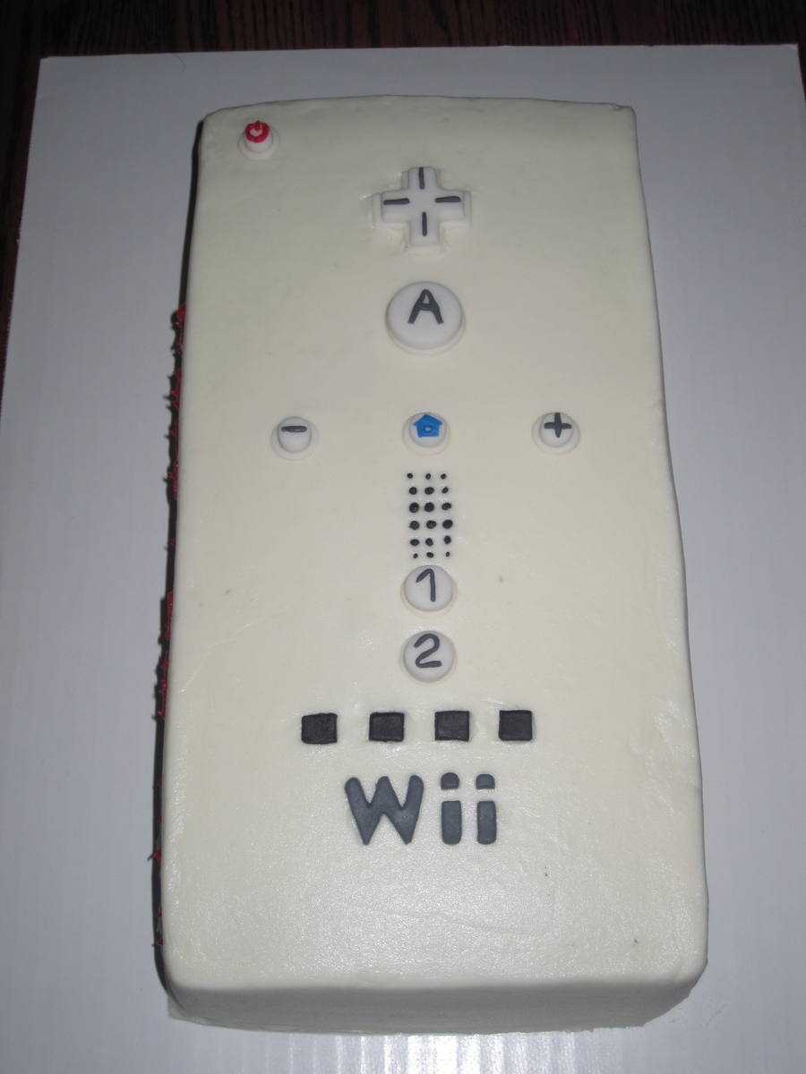 Wii Remote on Cake Central