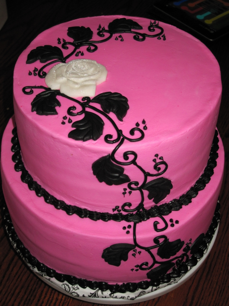 Pink And Black on Cake Central